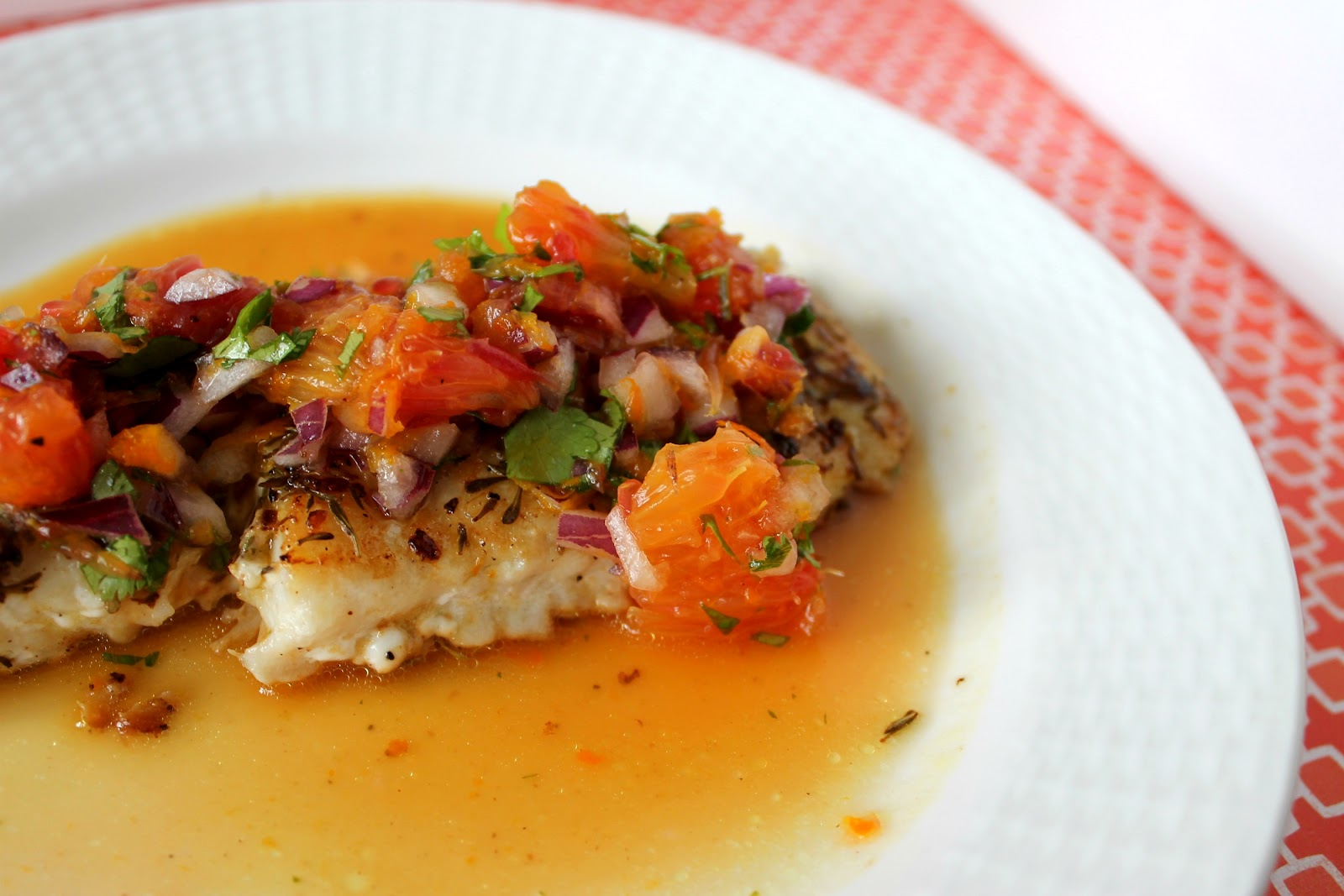 Sear-Roasted Halibut With Blood Orange Salsa Recipe — Dishmaps