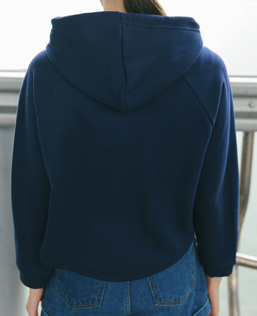 Short Zip-Up Hoodie