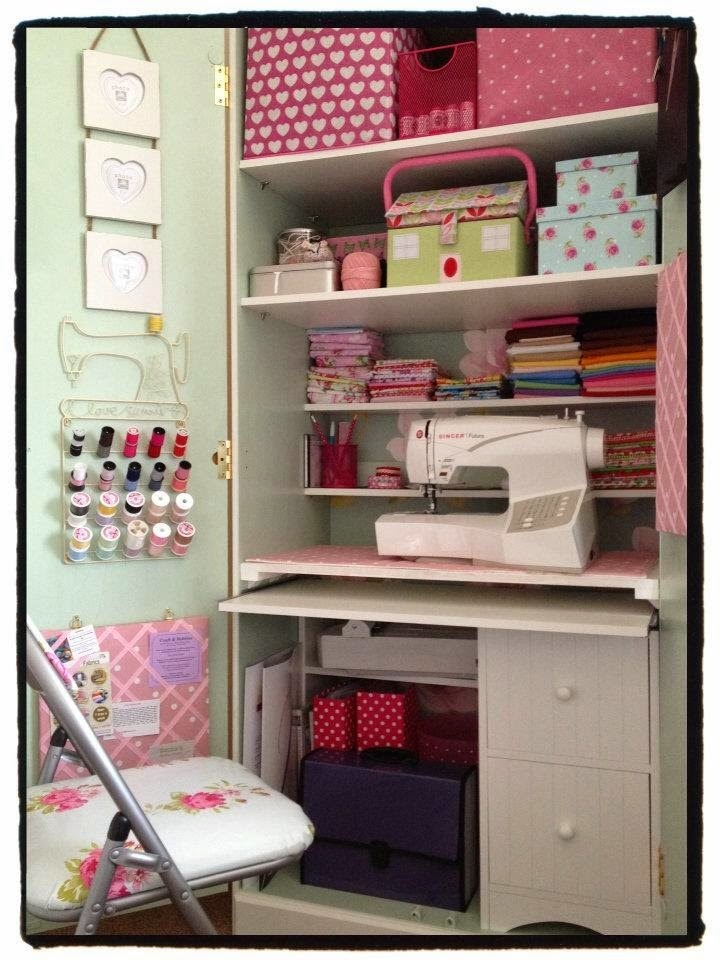 Armario Microondas Conforama ~ Días de Inspiración 10 ideas para hacer un rincón de costura en un armario