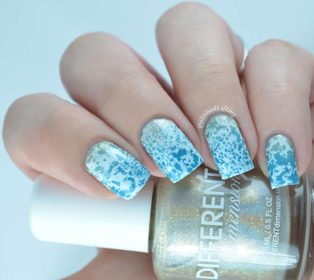 Beach mani nail art