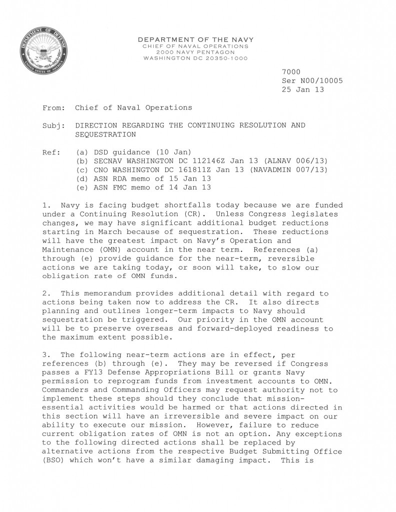 Us navy jeep january 2013 cno memo on sequestration altavistaventures Image collections