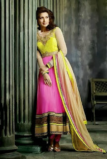 Two Shaded Sonali Bendre Anarkali Suit