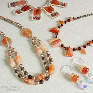 Red Hot Summer Jewellery Collection by MagsBeadsCreation