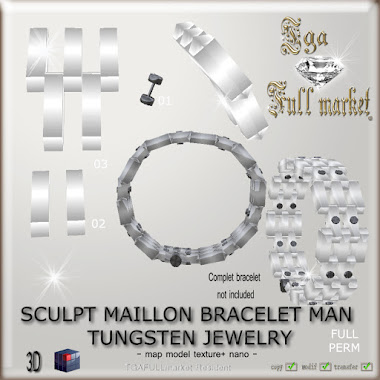 SCULPT MAILLONS BRACELET MAN TUNGSTEN JEWELRY