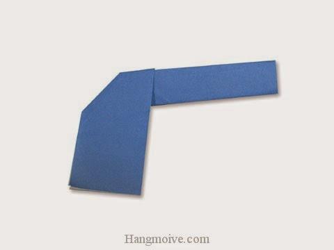 Cách gấp, xếp khẩu súng lục bằng giấy origami - Video hướng dẫn xếp hình - How to make a Pistol