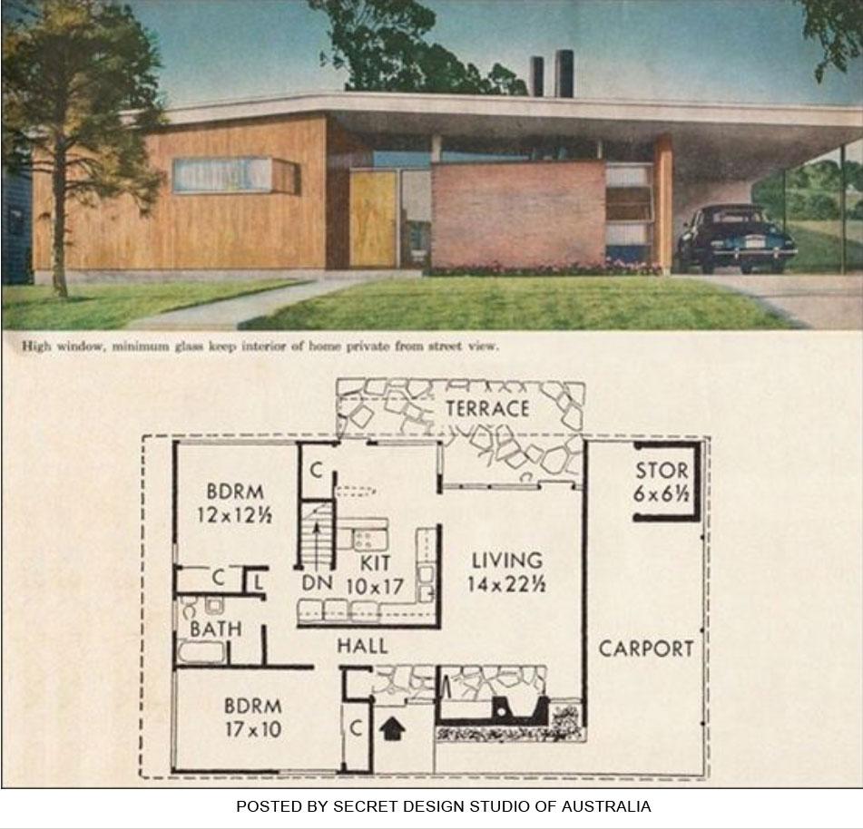 Midcentury modern house plans book House interior