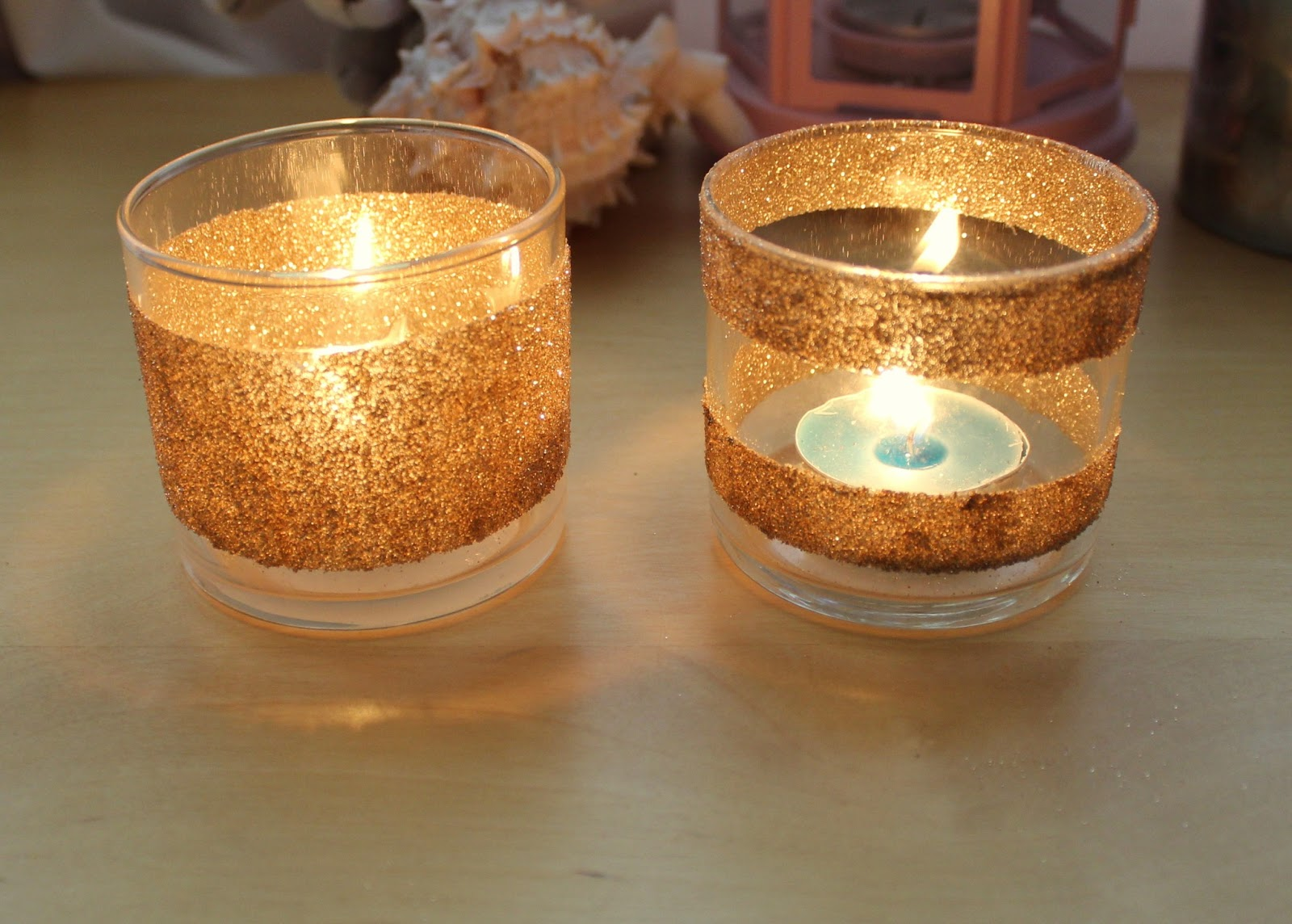 Jessicaheartsbeauty diy glitter candle votive for Homemade votive candles