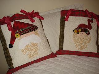 Almofadas de Natal - Papai e Mamãe Noel
