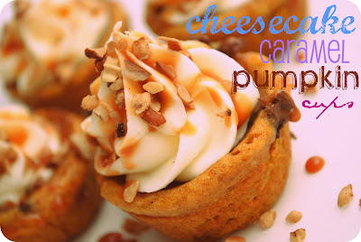 Cheesecake Caramel Pumpkin Cups
