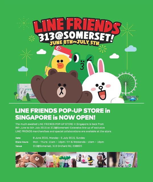 LINE FRIENDS Pop Up Store Singapore Somerset 2015
