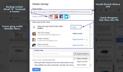 cara berbagi file menggunakan google drive