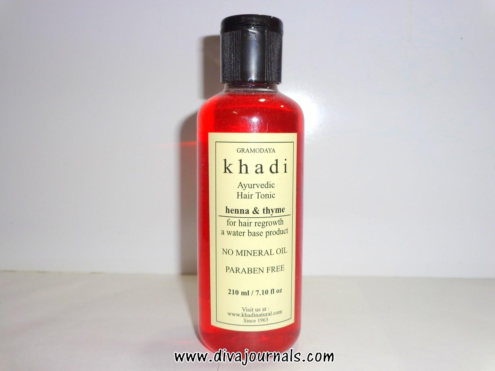 Khadi Henna & Thyme Ayurvedic Hair Regrowth Hair Tonic