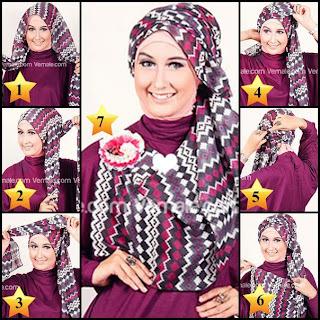 Cara Pakai Jilbab Style dengan Pasmina Tribal Elagan
