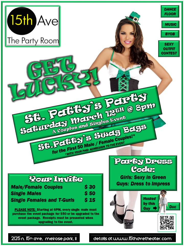 Next 15th Ave. Theater Party in Chicago: Get Lucky St. Pattys Party