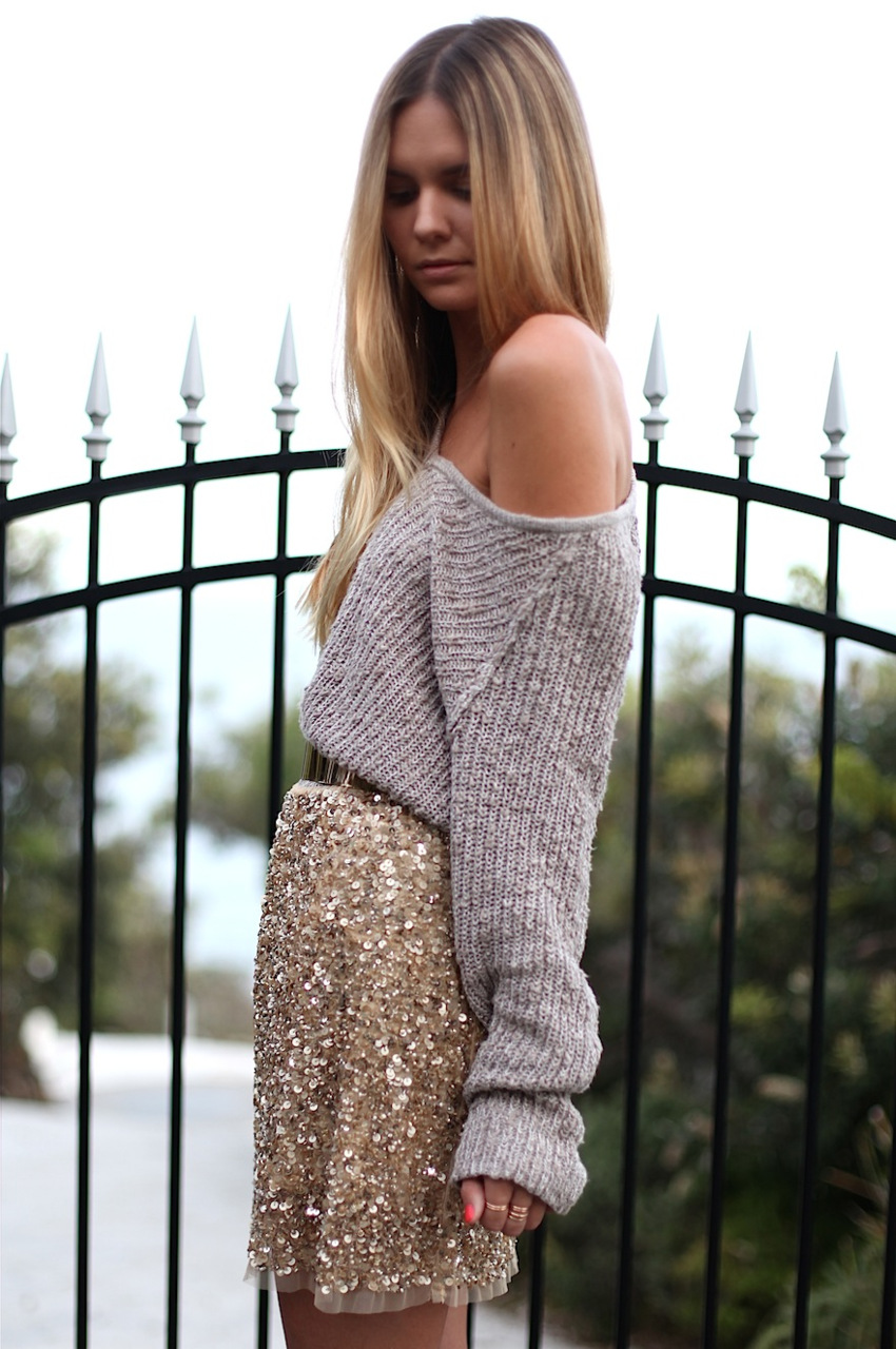 Sequin skirt outfit | South Molton St Style