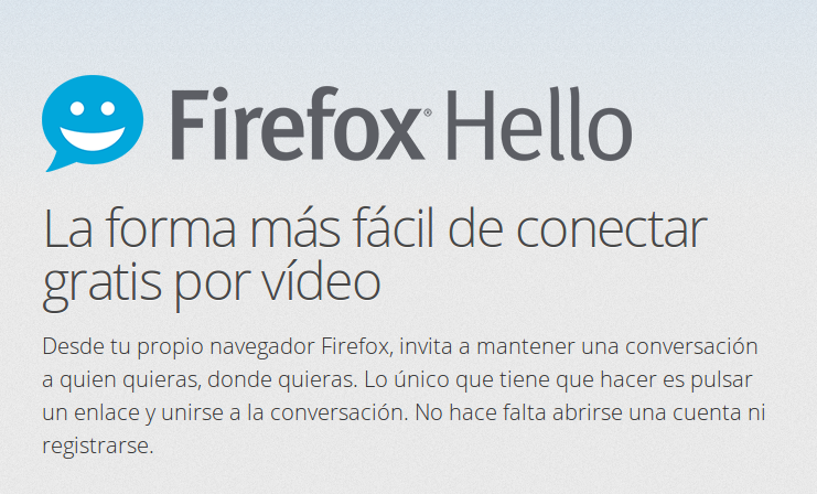 Firefox Hello, añadir Firefox Hello, review Firefox Hello