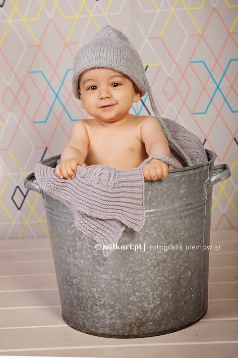 Sesja zdjęciowa niemowląt, zdjęcia niemowlaków, fotografia niemowlęca, fotograf dzieci Poznań, studio milkart