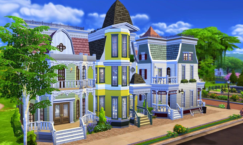 My Sims 4 Blog Victorian Avenue 4 Unique Villas In One