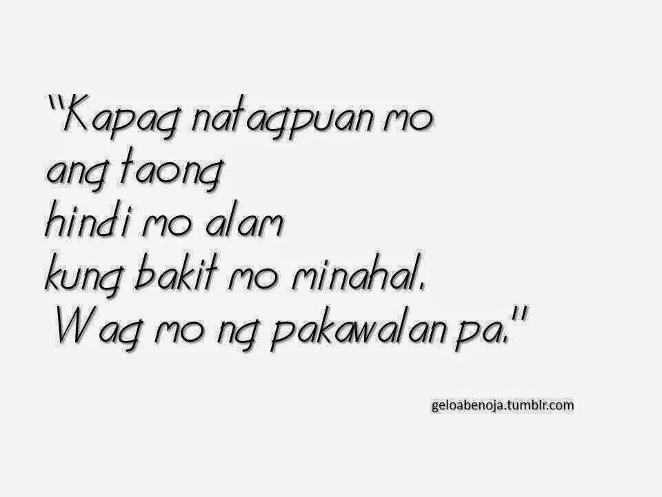 Kapag natagpuan mo ang taong hindi mo alam kung bakit mo minahal, wag mo ng pakawalan pa.