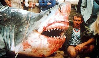Gran Tiburón blanco capturado por Vic Hislop en Australia, 1985
