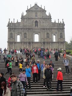 Escalinata hacia San Pablo en Macao.