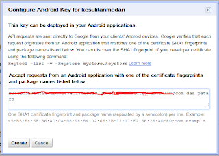 configure android key
