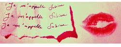 Je m'appelle Sabine