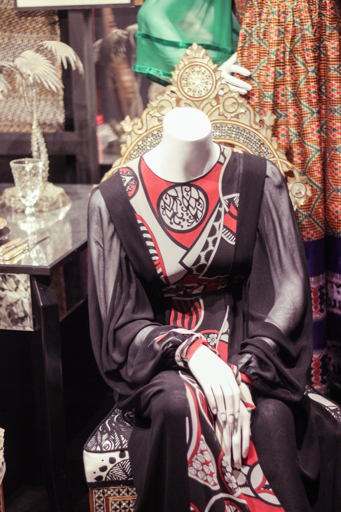 Thea Porter 70s Bohemian Chic exhibition at the Fashion and Textiles Museum.