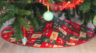 новый год мастер класс юбочка  накидка под елку
