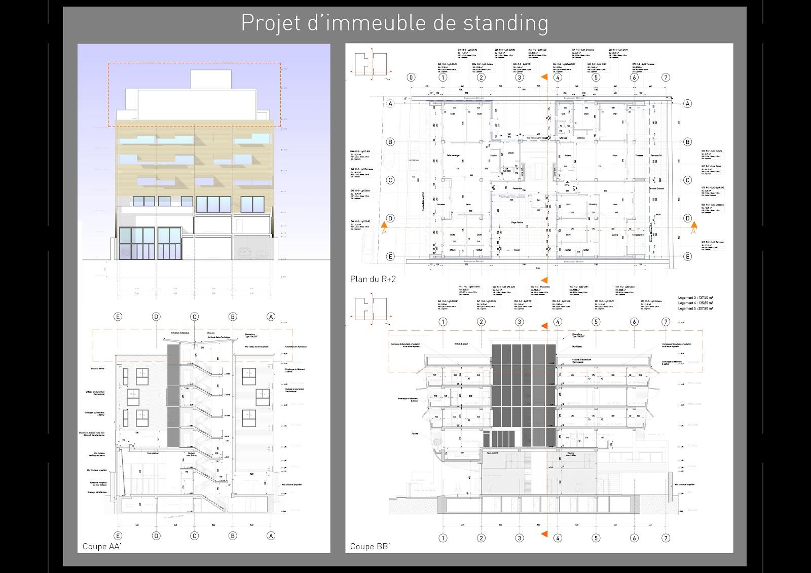 st phane le moign architecture dessinateur projeteur guingamp c tes d 39 armor projet d 39 immeuble. Black Bedroom Furniture Sets. Home Design Ideas
