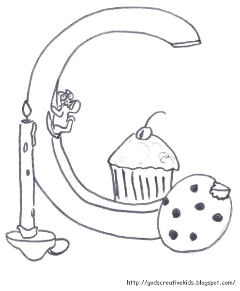 Letter C Coloring Pages