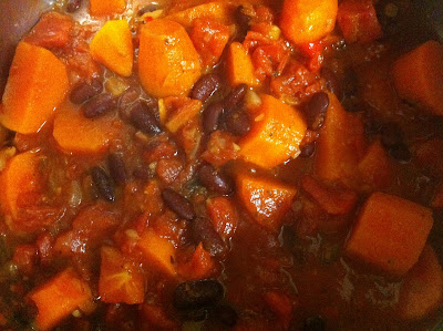 Healthy Sweet Potato and Bean Chilli