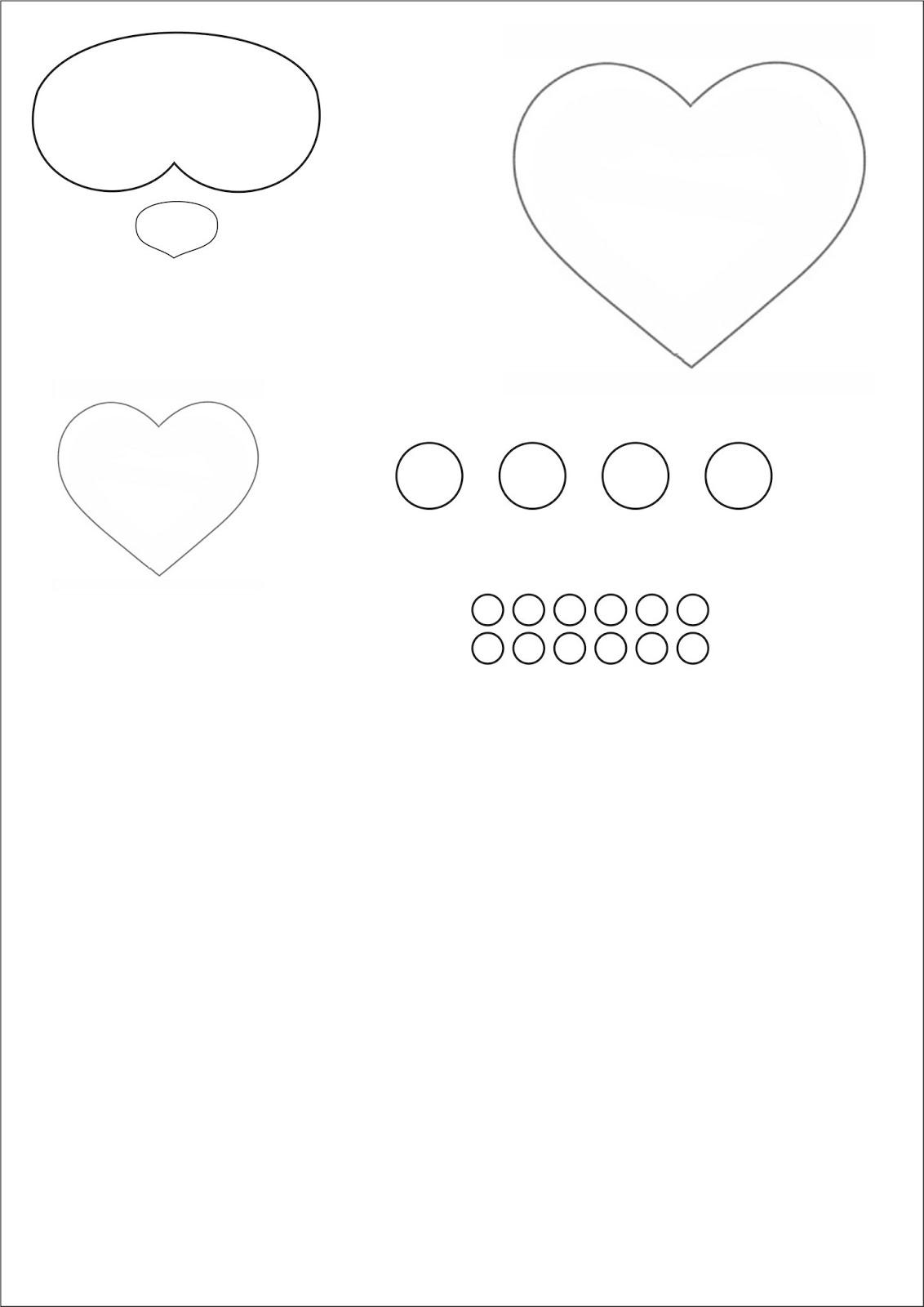 Haz click para imprimir el patron de la tarjeta osito teddy popup