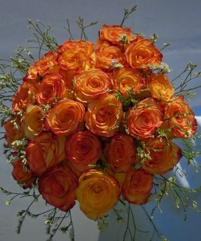 Ramos y Bouquets de Novia Naranja, parte 1