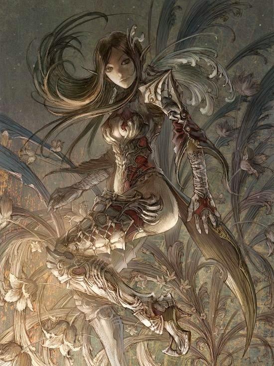 Kyoung Hwan Kim tahra deviantart ilustrações fantasia mulheres