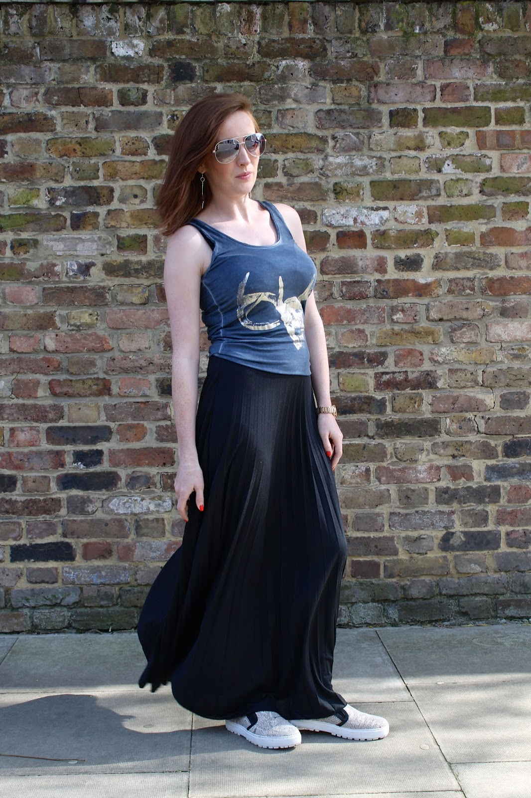 bec boop maxi skirt outfit