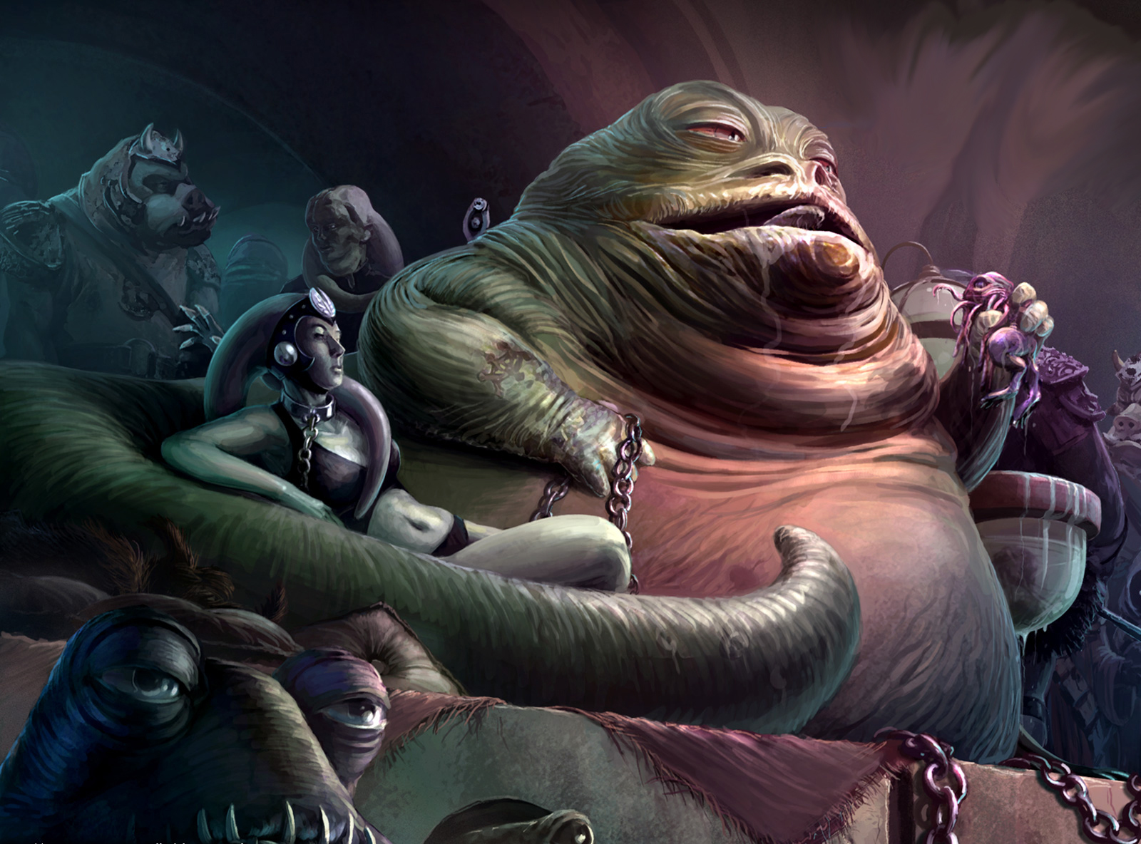 Outstanding Star Wars Jabba the Hutt Slave 1600 x 1184 · 843 kB · jpeg