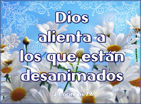 Postal cristiana Dios alienta 2 Corintios 7:6