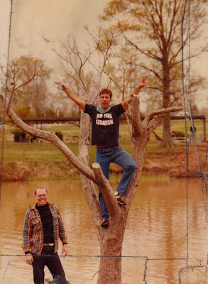 Tommy Mondello & John up at Nave Lake Millington, Tennessee 1981