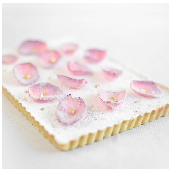 Roses and Gold. A Rose Water Tart