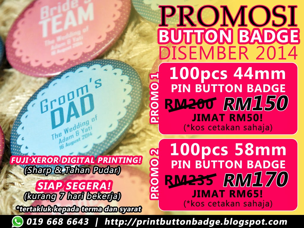 Promosi Cetakan Button Badge Akhir Tahun