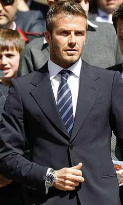 Gambar David Beckham Memakai Jam Tangan