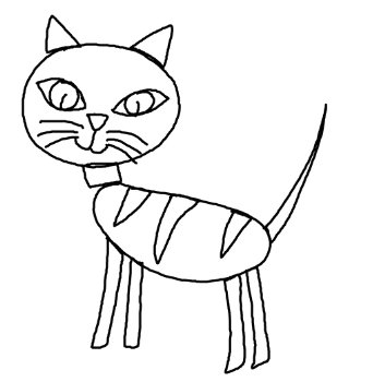 10finally you have a cute picture of cat now you can color it as you like what is the color of your cat what color do you like