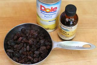 pineapple juice and raisins