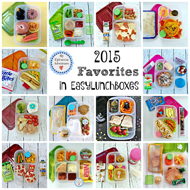 My Epicurean Adventures: 2015 Favorites in EasyLunchboxes - Lunch box ideas, school lunch ideas, lunches