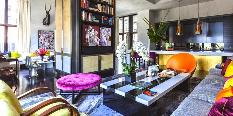 Famous Interior Designers Work eclectic style • interior design