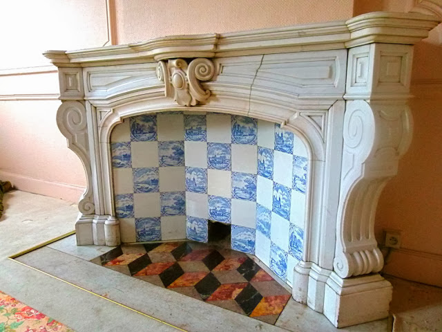 Antique White Marble Fireplace | Cheminee Ancienne Marbre Blanc