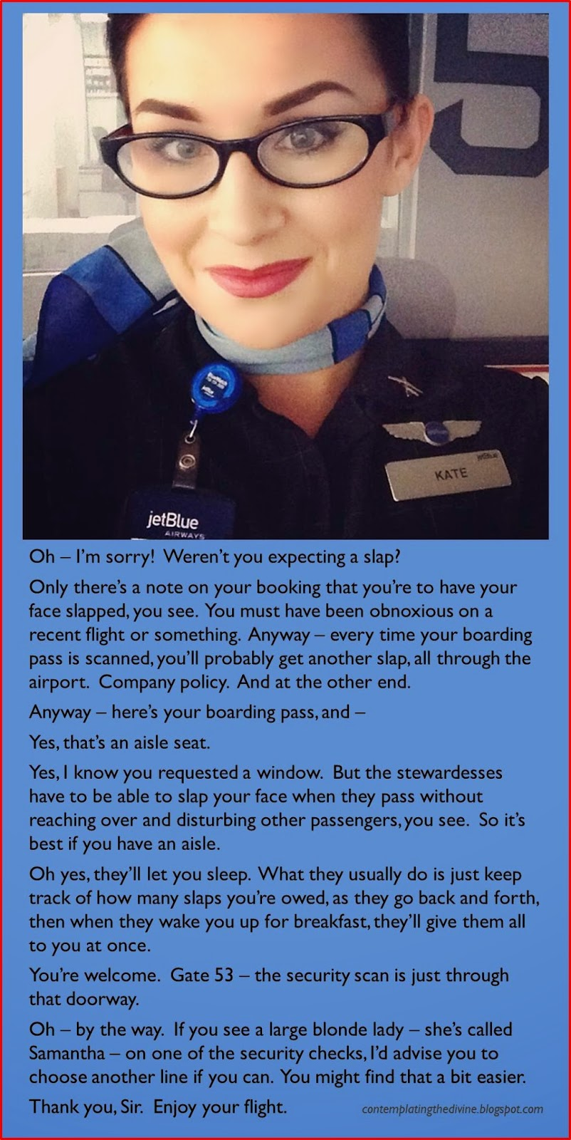 Air stewardess femdom