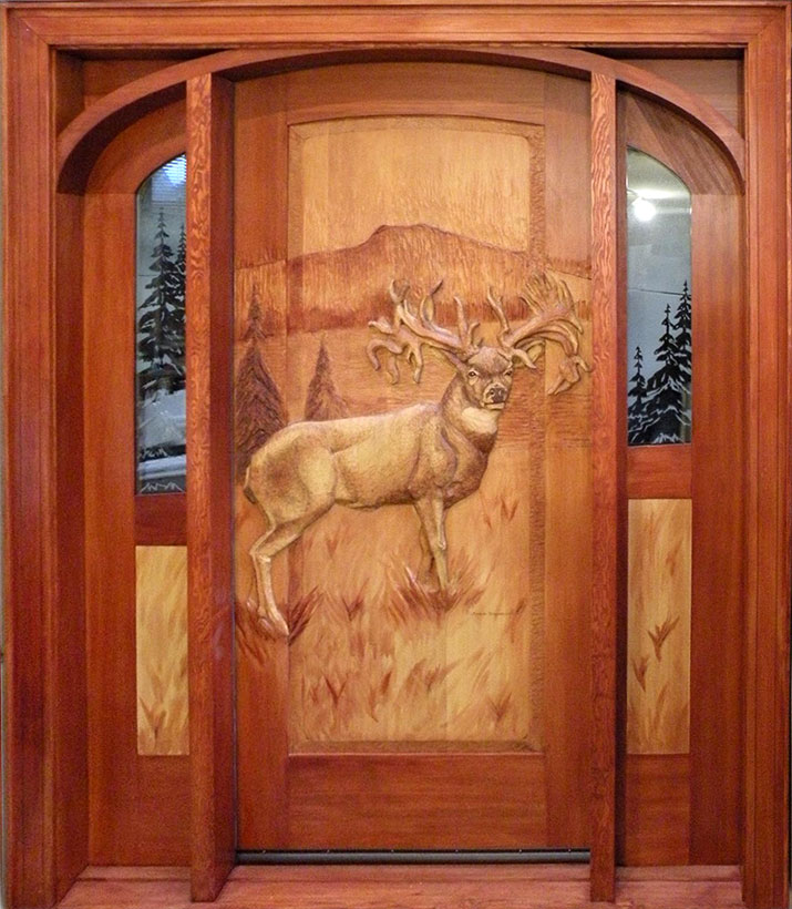 Carved Front Door