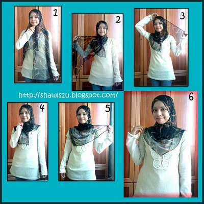 And  This is the example of how to wear a shawl